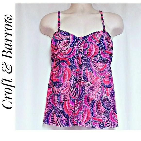 croft & barrow Other - *SALE* Croft  &  Barrow Swim Top Purple Pink 16W